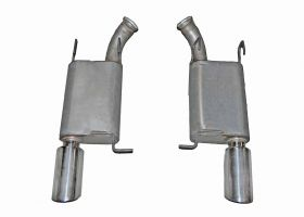 Gibson® Performance 619012 Axle Back Dual Exhaust System Fits 14 Mustang
